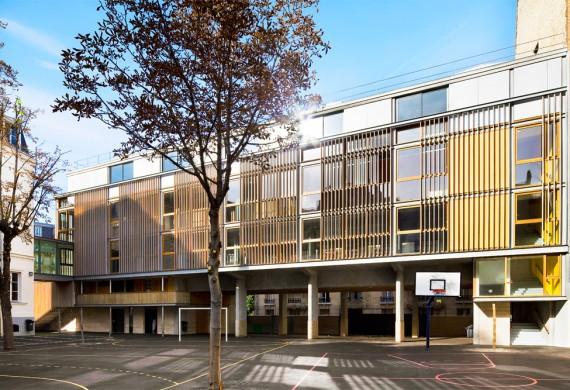 École élémentaire rue Lafontaine à Paris